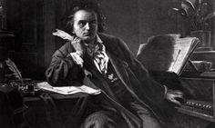 Beethoven Composing at a piano