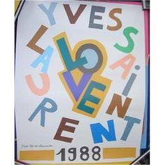YSL 1988 Love Poster