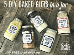 Coolest Gifts in a Jar from Cul-de-sac Cool! Mason Jar Meals, Mason Jar Gifts, Meals In A Jar, Gift Jars, Homemade Christmas Gifts, Homemade Gifts, Diy Gifts, Homemade Spices, Xmas Gifts