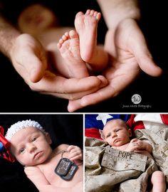 more kori military newborn poses