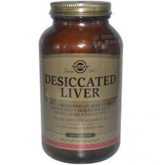 Solgar, Desiccated Liver, 250 Tablets, Diet Suplements 蛇