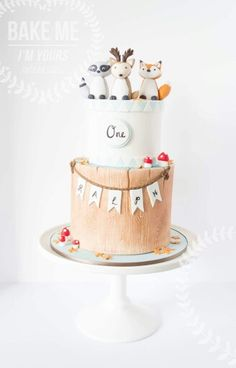 Cute Woodland cake                                                                                                                                                                                 More