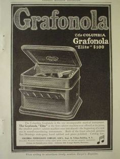 Columbia Grafanola Elite AND Leo Slezak as Rhadames in Aida National Phonograph Co (1910)