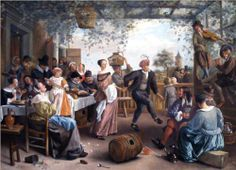 Jan Havickszoon Steen (Leiden 1626 – Leiden 1679)  The Dancing Couple