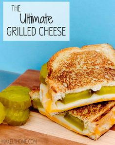 Yummy gourmet grilled cheese…I love cheese and pickles!
