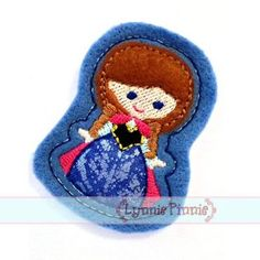 See It All - Snow Princess Felt Clippies 4x4 - Welcome to Lynnie Pinnie.com! Instant download and free applique machine embroidery designs in PES, HUS, JEF, DST, EXP, VIP, XXX AND ART formats.