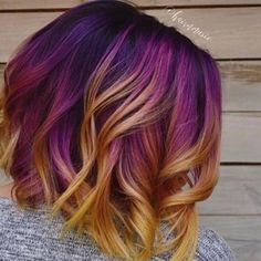 The ombre hair trend has been seducing for some seasons now. More discreet than tie and dye, less classic than sweeping, this new technique of hair. Hair Dye Colors, Cool Hair Color, Funky Hair Colors, Hype Hair, Rainbow Hair, Gorgeous Hair, Hair Looks, Pretty Hairstyles, New Hair