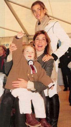 Princess Caroline with Alexandra and Charlotte