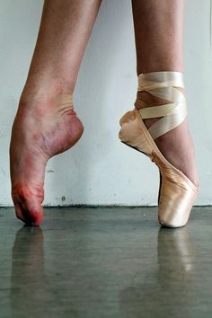 Ballerina giving ballet slipper footjob with you