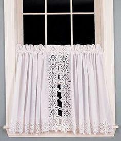 Battenburg Lace Tier Curtains