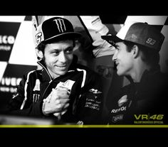 Valentino Rossi and Marc Marquez at Assen 2014
