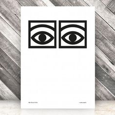 The iconic Ögon Cacao one eye poster was designed by the well-known Swedish illustrator Olle Eksell back in 1956. The famous eyes of cacao was part of Sweden 's first design program that Olle designed for the company Mazetti. Since then, the poster has become a real design classic.