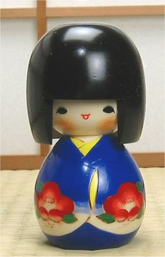 Japanese traditional wooden dolls called kokeshi are available for sale in this section. We have over 100 kokeshi! Momiji Doll, Kokeshi Dolls, Doll Painting, Wooden Dolls, Child Love, Geisha, Kids Toys, Kawaii, Japanese