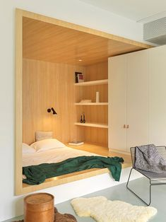 MDDM Studio uses yellow to energise interiors of Beijings House P Kids Room Design Beijings energise House Interiors MDDM Studio Yellow Built In Furniture, White Furniture, Small Apartments, Small Spaces, Interior Architecture, Interior Design, Interior Colors, Interior Ideas, Built In Bed