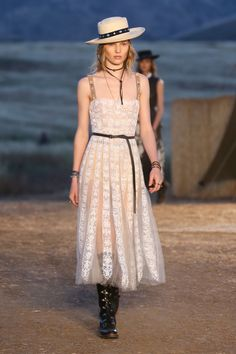 Model on the catwalk Dior Cruise Collection 2018 show, Runway, Los Angeles, USA – 11 May 2017