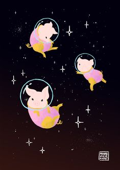 Space Piggies! Oink oink~ Space Bunnies Space Foxes Space Turtles Space Koalas