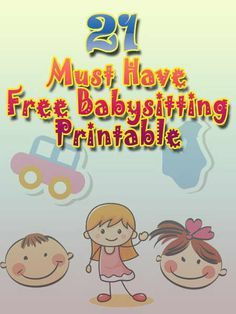 Collection Of Free Printable Babysitting Activities For Those Who In Baby Care Related Business Such As Flyer Babysitter Resume Checklist