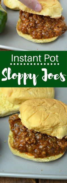 Instant Pot Sloppy Joes - The easiest weeknight dinner you can make in your pressure cooker!