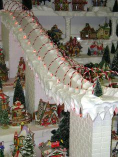 Large Foam North Pole Village Display