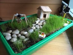 """Lovely small world play at Oac Barton preschool - image shared by Only About Children ("""",) Natural Playground, Outdoor Playground, Playground Ideas, Outdoor School, Outdoor Classroom, Reggio Emilia, Toddler Preschool, Toddler Activities, Preschool Ideas"""
