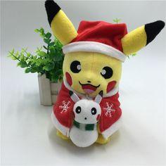 New Style Pikachu Plush Toys Santa Claus Christmas Gift for Children 20cm Kawaii Toys Pikachu Stuffed Plush Doll Baby Kids Toy