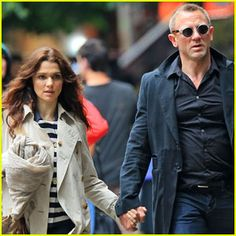 Rachel Weisz holds hands with hubby Daniel Craig on their way to lunch on Thursday (May 24) in New York City.