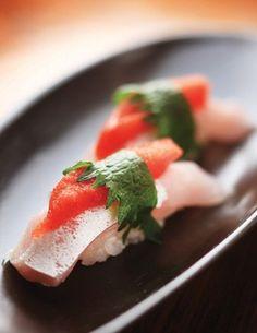 Sushi de buri à moda do chef