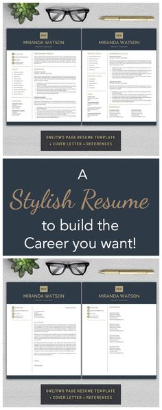 Love This Modern Resume Template Kit Also Includes A Resume