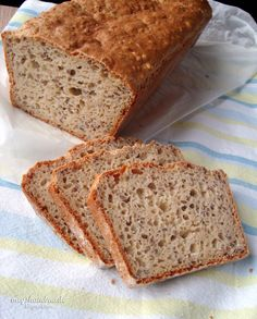 Gluten-Free Bread and Tea Bread Recipes, Flour Blends and tips - Gluten Free goddess Healthy Gluten Free Bread Recipe, Gluten Free Flour Blend Recipe, Foods With Gluten, Gluten Free Cooking, Dairy Free Recipes, Bread Recipes, Gluten Free Thanksgiving, Gluten Free Pumpkin, Thanksgiving Recipes