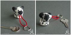Schlüsselanhänger - HapDich - Dalmatiner - ein Designerstück von JuLi bei DaWanda