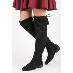 Yes Mile Thighs With Fringes black Types Of Heels, Fringes, Thigh High Boots, Thigh Highs, Suede Leather, Thighs, Winter Fashion, Ladies Boots, Casual