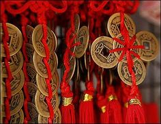 Chinese coins make a nice party favor for a Chinese New Year celebration.