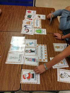 """Character or Setting freebies!  Sorting cards and """"round the room"""" activity! Kindergarten Centers, Kindergarten Literacy, Literacy Activities, Preschool, Literacy Stations, Comprehension Activities, Language Activities, Holiday Activities, Literacy Centers"""