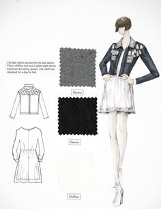 The FIT Fashion Design program for Fall Eun Kim - Site Title Fashion Design Sketchbook, Fashion Design Portfolio, Fashion Design Drawings, Fashion Sketches, Drawing Fashion, Fashion Design Template, Fashion Templates, How To Make Clothes, Making Clothes