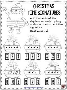 Christmas Music Lessons : Santa Meter Match Activity   |  #musiceducation    #mused   #elemused