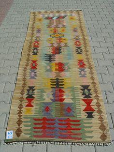 Turkish Kilim Hand Woven Rug Runner Carpet by TurkishCraftsArts