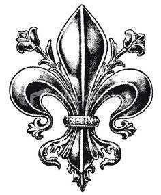 Epoque louis xiv i fleur de lys et symbole pinterest fleur de lis album et louis xiv - Symbole fleur de lys ...