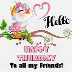 Hello Bird Thursday Friend Quote thursday thursday quotes thursday blessings thursday quotes and sayings thursday quote images