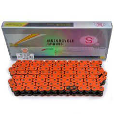 Motorcycle Chain Sets For 530HV 120L Motorbike Chain Motorbike Heavy Duty O-Ring Drive Chains Orange Color