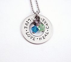 Nurse Gift - Graduation -Hand Stamped Stainless Steel Washer Necklace  by Stampressions, $21.00