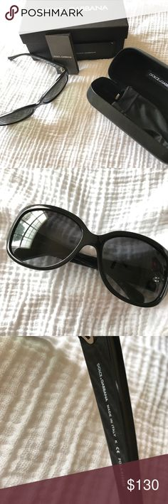 Authentic Dolce & Gabbana Women's Sunglasses Authentic women's D&G sunglasses, polarized. Worn a few times with barely noticeable blemishes on the frame. Comes with D&G cloth pouch, case, and box. Dolce & Gabbana Accessories Sunglasses