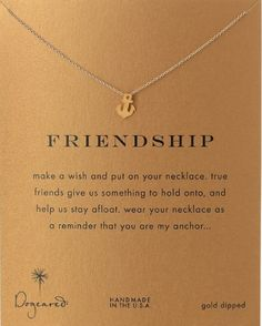 Dogeared Friendship Pendant Necklace- Best friend gifts #anchor