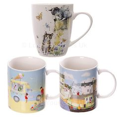 Jan pashley bone #china mugs sets #beach #harbour down on the farm cat,  View more on the LINK: http://www.zeppy.io/product/gb/2/321800237727/