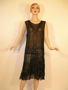 Black 20's dress.