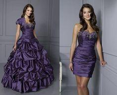 vestido de roxo 2 em 1