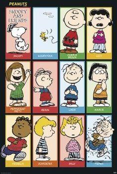 "Peanuts Poster Snoopy & Friends (27""x40""): Amazon.ca: Home & Kitchen"