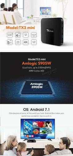 Tanix TX3 Mini Amlogic S905W 2G RAM 16G ROM Android7.1 4K TV Box