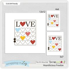 Scrapping with Liz: Valentine's Day is Coming Up! Get Ready. Journal card templates*
