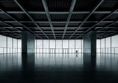 Architecture  Modern design : Neue Nationalgalerie Berlin Ludwig Mies van der Rohe