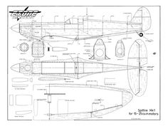 Spitfire MkI from Etone Models 1992 - plan thumbnail Paper Airplane Models, Model Airplanes, Paper Models, Spitfire Supermarine, Helicopter Rotor, Rc Plane Plans, Wooden Airplane, Aircraft Painting, Experimental Aircraft